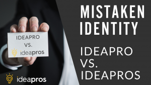 An image of a hand holding a paper saying IDEAPRO vs IDEAPROS