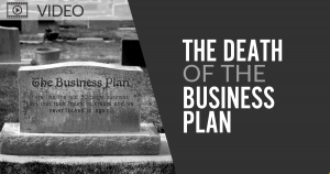 An image showing The Death of the Business Plan